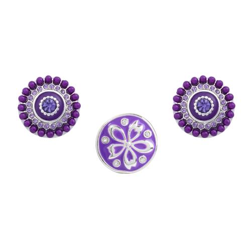 Purple Clematis Dot Set