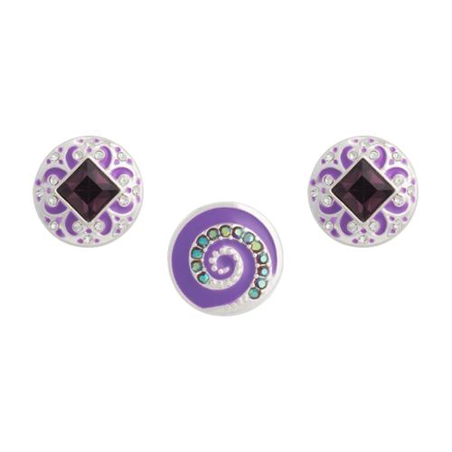Purple Whirl Dot Set