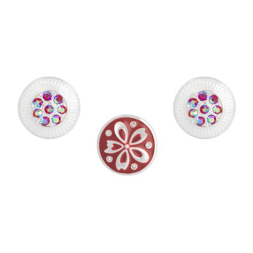Red Clematis Dot Set