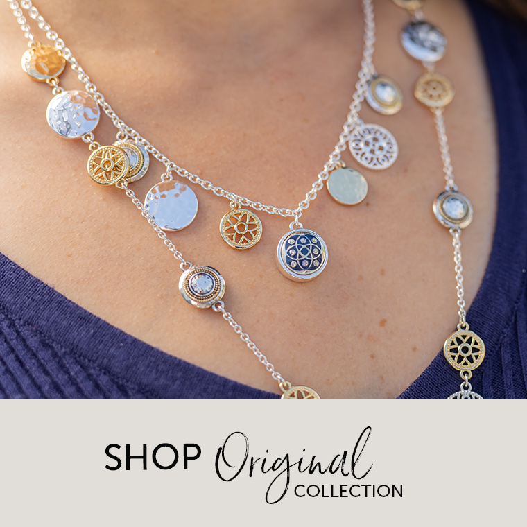 Layered silver and gold necklace
